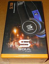 Ludacris Soul SL100UB Headband Headphones - Black/Blue Headset Brand New Sealed