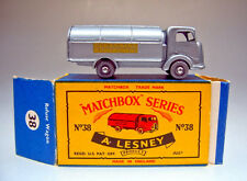 Matchbox No.38A Refuse Truck met. silver body later casting mint/boxed