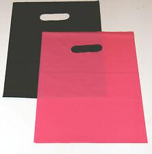 "100  9"" x 12"" (50) PINK & (50) BLACK GLOSSY Low-Density Plastic Merchandise Bags"