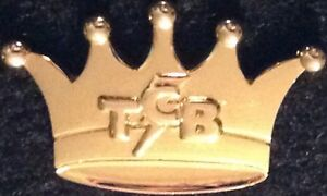 Hard Rock Cafe STAFF Elvis TCB Bolt Gold Crown PIN Takin Care of Biz HRC #48491