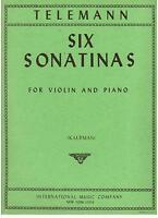 Telemann: 6 Sonatine Für Violine E Klavier (Kaufman) International Musik Co