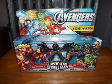 SUPER HERO SQUAD, THE AVENGERS, SECRET INVASION COMIC SERIES, FIGURE SET, NIB