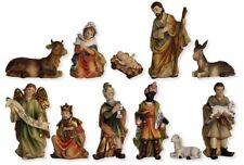Weihnachtsfiguren Krippenfiguren in Holzoptik 11-teilig Größe ca.11cm