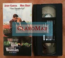 ☀️ When a Man Loves a Woman VHS Movie Andy Garcia Meg Ryan Ellen Burstyn MINT