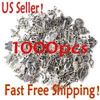 Lots 1000pcs Bulk Tibetan Silver Mix Charm Pendants Jewelry Making DIY US Seller