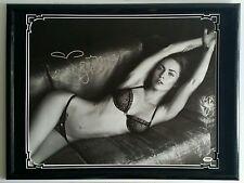Megan Fox Signed Autographed 16x20 Canvas Framed 20x24 PSA DNA