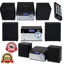 Home Stereo System Radio Bluetooth AM/FM Music Receiver CD Player Compact Shelf