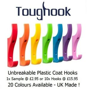TOUGHOOK Super Strong Coat Hooks for Schools Unbreakable NEW LOWER PRICE