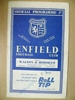 Athenian League Senior Section 1961- ENFIELD v WALTON & HERSHAM, 4th Nov