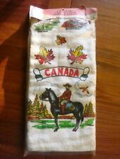 Vintage 1960s CANADA Terry Cloth 2 Piece KITCHEN TOWEL & APRON SET New Packaged