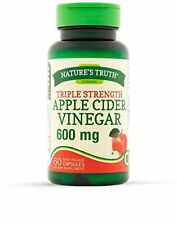 Nature's Truth Triple Strength Apple Cider Vinegar 600MG 60 Count Each