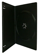 60 Black Slim line 7mm Single DVD CD Cases With Sleeve