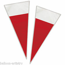 20 Christmas Party SANTA HAT Loot Gift Sweet Treat Plastic Cellophane Cone Bags