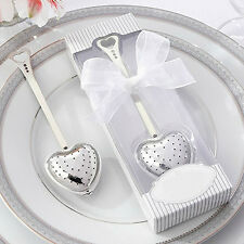 Heart Design Spoon Tea Infuser Filter Souvenir Bridal Shower Favor Gift Showy