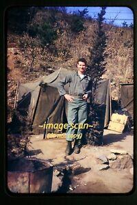 1950's Korean War, USMC Marines Soldier Man in Korea, Original. Slide c27b
