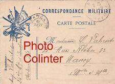 Correspondance Militaire Carte Postale Franchise - texte manuscrit au dos 1915