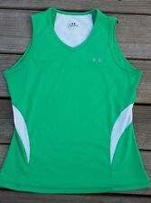 Under Armour Green White Cycling Running Workout Sleeveless Tank Top Size S