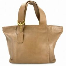 Coach Leather Tote Bag Handbag Brown DM38-40