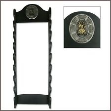 WALL MOUNT EIGHT SWORD DISPLAY STAND BLACK BRAND NEW!!!