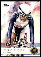 2012 TOPPS OLYMPICS GOLD EVELYN STEVENS CYCLING #96 PARALLEL