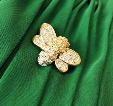 Swarovski Swan Mark Bumblee Bee Crystals Rhinestones Gold Tone Frame Brooch