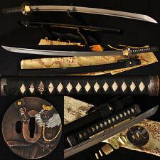Japanese Samurai Sword Katana 1060High Carbon Steel Full Tang Blade Wizard Tsuba
