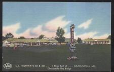 Postcard GRASONVILLE Maryland/MD  Bay Bridge Motel Motor Court/Restaurant 1930's