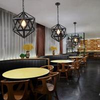 Black Pendant Light Bar Lamp Vintage Chandelier Lighting Kitchen Ceiling Lights