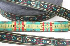 red green, yellow and black navajo aztec ribbon trim 20mm wide 2m 2 metres