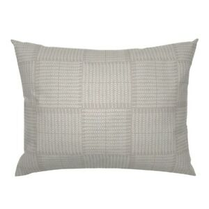 Geometric Beige Stitched Look White And Taupe Hand Pillow Sham by Spoonflower