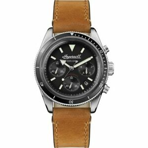 Ingersoll Men's Black and Brown Leather Strap Watch I06202 RRP £330