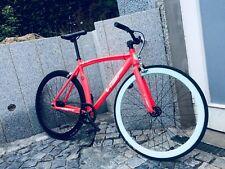 Original Visc Singlespeed + Fixie 28 Neon Pink / Orange Rennrad Speedbike