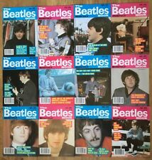 1991 Complete Year The Beatles Book Monthly All 12 Months Set Magazine 177-188