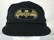 Batman DC Comics Originals Black Snap Back Mesh Trucker Cap Hat 1964 Vintage