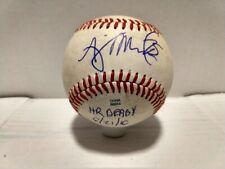 AJ Murray Autographed Midwest League Home Run Derby Baseball Georgia Tech Auto