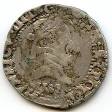 Henri III (1574-1589) 1/2 Franc au col plat 1588 K Bordeaux