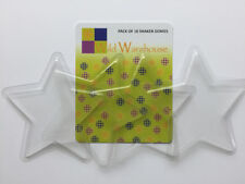 Star Shaped Clear Plastic Domes Bubble Fronts Fillables for Shaker Card Making