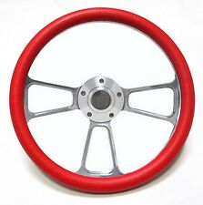 "New World Motoring Kubota, Tomberlin Golf Cart 14"" Red Steering Wheel Include..."