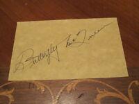 Butterfly McQueen Autographed 3x5 Index Card PSA PRE CERT
