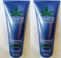 2 Hempz Triple Moisture Herbal Whipped Creme Body Wash 8.5oz