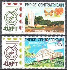 Central Africa 1979 - Philexafrique 79 - butterflies - Mi. 624-25 - MNH (**)