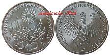 J405 10 DM Gedenkmünze Olympia München 1972 D Flammen in bankfrisch