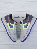 5.5Y | 7 WOMEN'S NIKE AIR FORCE 1 AF1 GRAY MULTICOLOR SNEAKERS CASUAL CT1628 001