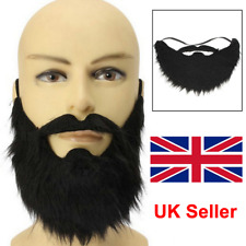 New Fake Beard Mustache Men Stage Function Make Up Props Whiskers Cool Pop UK