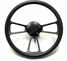 """14"""" Black Steering Wheel w/ Black Horn for Ford Mustang FREE SHIPPING!"""