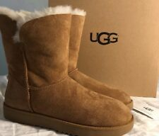 Ugg 1016418 Classic Cuff Short Boot Chestnut Women's 100% Authentic Size 6 New