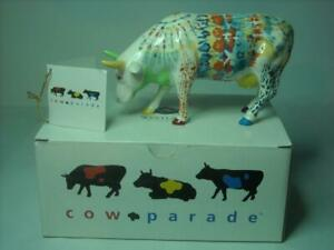 "Cow Parade UDDERLY GROOVY LADY BELLE Ceramic Medium Size 6.25"" Long 3.6"" High"