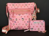 Disney Cath Kidston 90 anniversary Mickey Mouse Crossbody & Wallet NWT from UK!