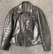 *RARE* Vintage BLATT (Chicago) Leather Motorcycle Jacket Police  Size 44