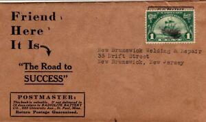 1924 1c Walloon on Wrapper New Brunswick New Jersey #614